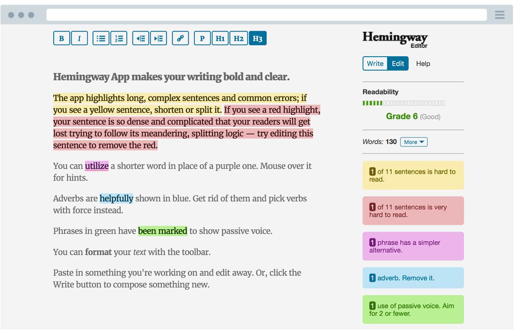 Hemingway App | Church Websites UK | Church Blogging